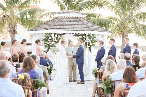 Florida Bride and Groom Beach Elegant Wedding Ceremony