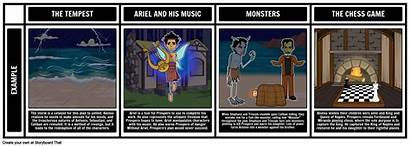 Tempest Themes Symbols Motifs Storyboard Shakespeare Characters