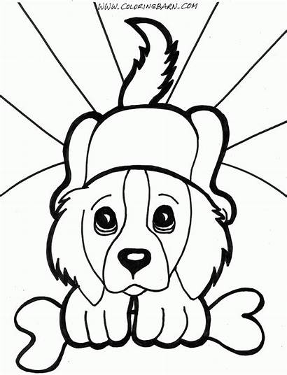 Coloring Puppy Pages Animals Playing
