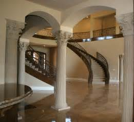 interior decorated homes luxurious european interior house decors with moulding fluted interior columns added