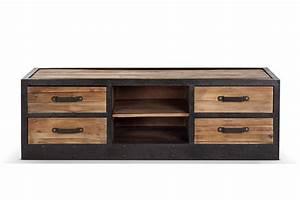 Meuble Industriel Vintage : meuble tv bas industriel vintage tv02 rose moore ~ Teatrodelosmanantiales.com Idées de Décoration