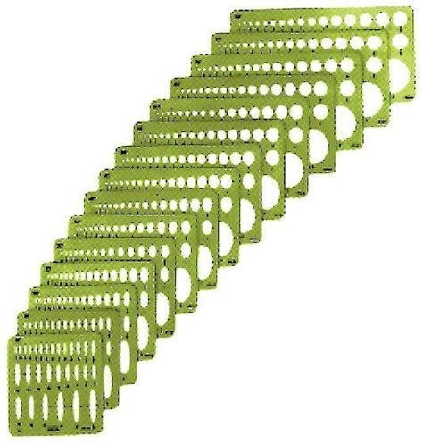 ellipse template ellipse templates set of 15 alvin drafting