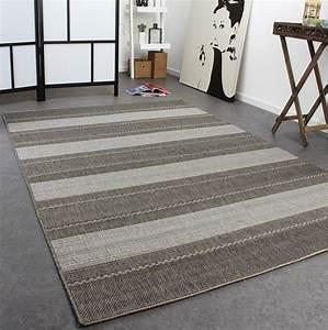 Teppich Grau Modern : teppich modern flachgewebe gestreift designer teppich sisal optik grau t ne alle teppiche ~ Whattoseeinmadrid.com Haus und Dekorationen