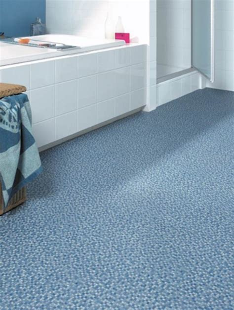 Floating Floor In Bathroom Ultramodern Blue Pattern Bathroom Linoleum Flooring Design