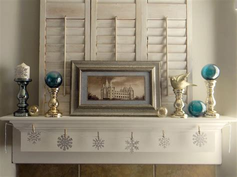 Winter Decorating : Decorate Your Mantel For Winter