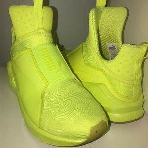 off Puma Shoes Kylie Jenner fierce bright yellow