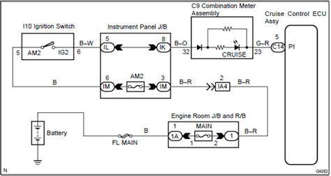 toyota corolla repair manual circuit description cruise main indicator light circuit cruise