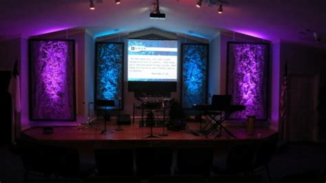 removable texture church stage design ideas