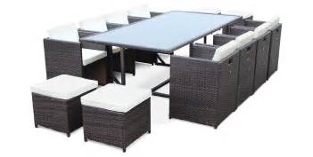 Table Et Chaise De Jardin En Resine Tressee Encastrable by Salon De Jardin R 233 Sine Tress 233 E 8 224 12 Places Vasto