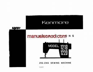 Kenmore 1218 1220 Sewing Machine Instruction Manual