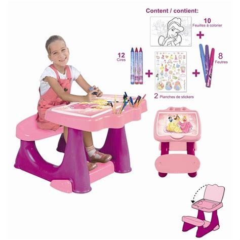 bureau princesse disney bureau enfant set de coloriage disney princess achat