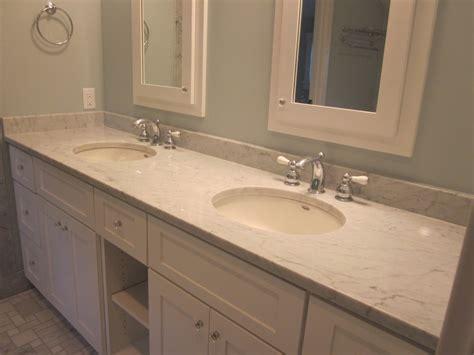 Bathroom. Lovable Carrera Marble Countertops Ideas