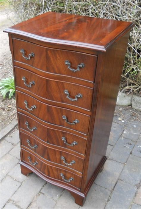 mahogany tall narrow chest  drawers sold