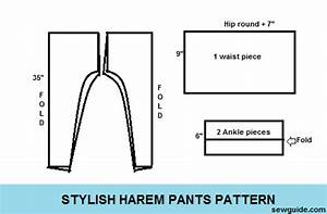 stylish harem pants diy pattern to sew them sew guide With harem pants template