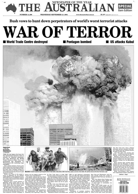 News The Of Sydney by Newspaper Front Pages From September 12 2001 9 11
