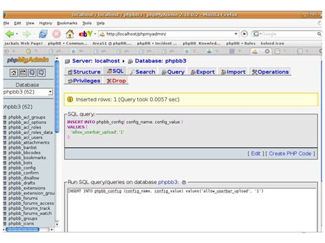 Phpbb • Knowledge Base> Executing Sql Queries In Phpmyadmin
