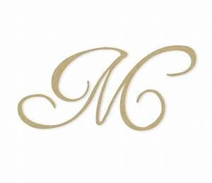 cursive monogram letter large or small unfinished