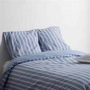 Parure De Lit Bleu : parure de lit ray e flanelle 220x240cm bleu ~ Teatrodelosmanantiales.com Idées de Décoration