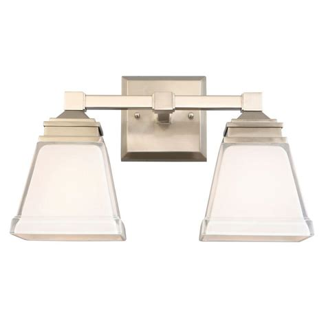 hton bay vanity light hton bay landray 2 light brushed nickel vanity light