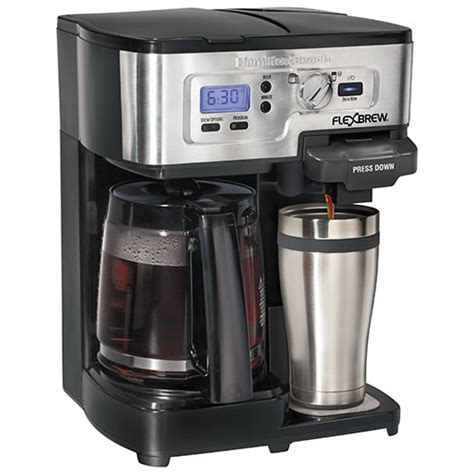 Hamilton Beach 12 Cup Multi Functional Coffee Maker (49983C)   Black/Stainless : Coffee Makers
