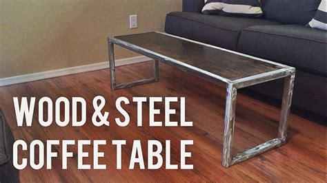 diy modern coffee table diy modern coffee table wood steel Diy Modern Coffee Table
