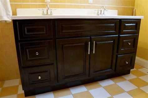 Gel Stain Cabinets Home Depot by Gel Stain Vanity Overhaul For The Home