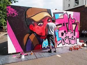 Top graffiti artists show off their work at the Urban Art ...