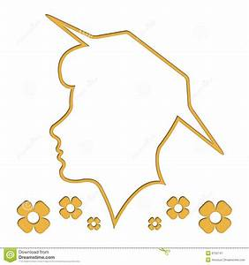 Head Outline, Silhouette, Woman, White Background Royalty ...