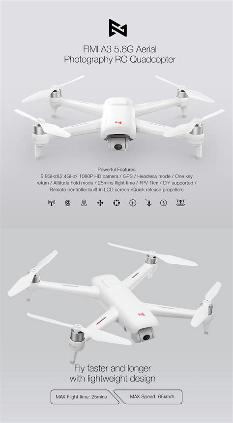 xiaomi fimi   km fpv   axis gimbal p camera gps rc drone quadcopter rtf sale