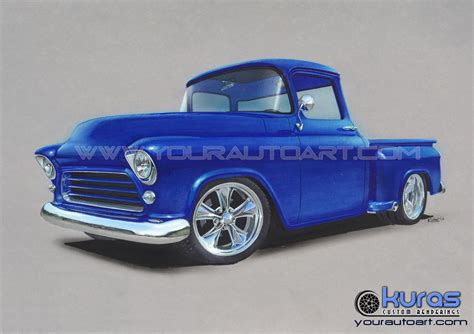Hot Rod Art, Car Drawing Art, And Custom Vehicle