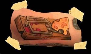 mouse trap / cheese tattoo | I Make Pretty tattoos ...