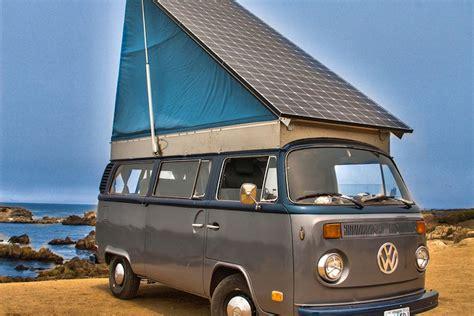 Vintage Volkswagen Bus Converted Into Solar Electric