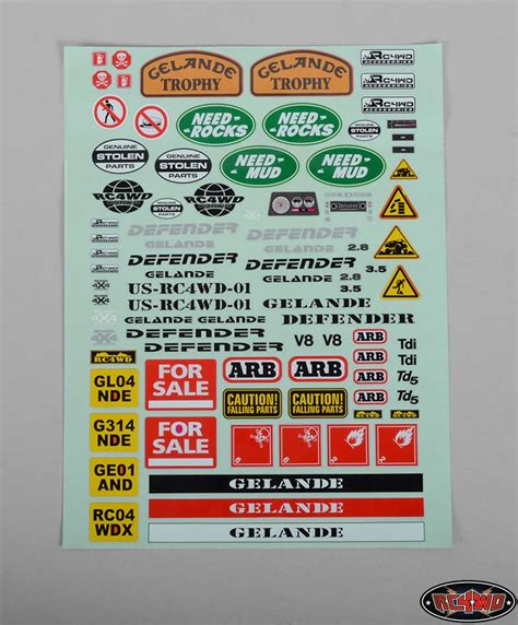 Havoc Boats Stickers by Gelande Ii Decal Sheet For D90 D110 Plastic Kit