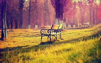 Outdoor Wallpapers Bench Backgrounds Wallpaperaccess