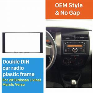 173 98mm Double Din 2013 Nissan Livina March Versa Car