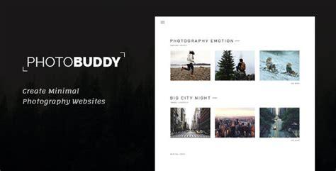 photo buddy photography portfolio minimal psd template