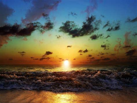 sunset sun  sea nature wallpaper hd wallpapers