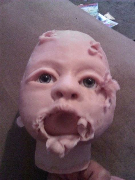 zombie baby doll  figurine dolls molding  pottery
