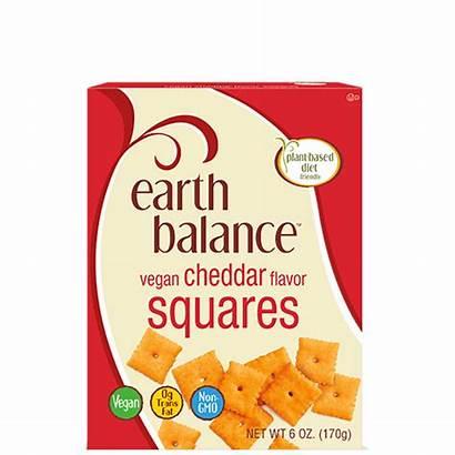 Squares Cheddar Vegan Crackers Cheese Flavor Balance