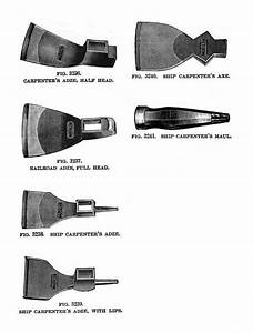 File:19th century knowledge woodworking adze and axe jpg