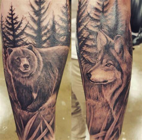 forearm tattoo bear  wolf tattoo wolf tattoos bear