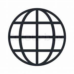 Flat Design Earth Globe Diagram Icon