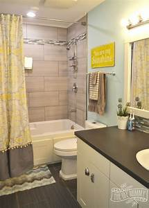 kids39 bathroom reveal and some great tips for post reno With small bathroom tile ideas for teens