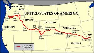 The Oregon Trail: Modern Map