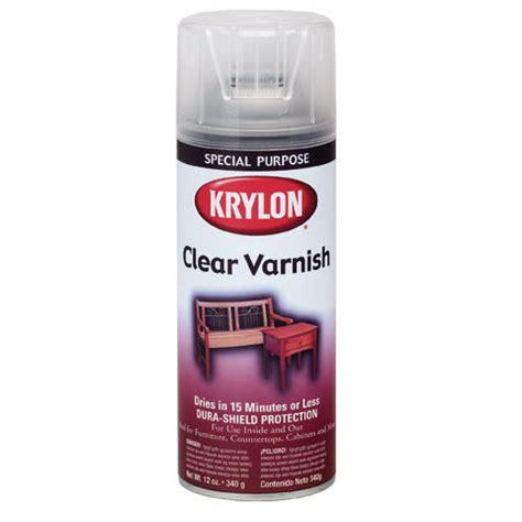 krylon gloss clear wood varnish aerosol spray  oz