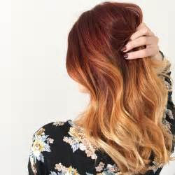 Balayage Highlights On Copper Red Hair