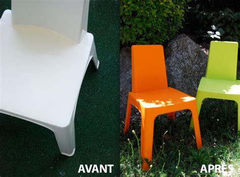 peindre chaise de jardin en plastique peindre salon de jardin la peinture qui change tout