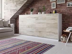 Bs Möbel Schrankbett : smartbett schrankbett basic 90x200 horizontal weiss eiche sonoma mit ~ Indierocktalk.com Haus und Dekorationen