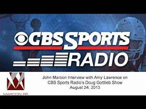 John Maroon Interview with Amy Lawrence on CBS Sports ...