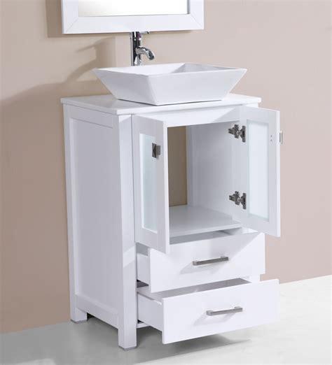 24 vessel sink vanity 24 quot newport white single modern bathroom vanity with